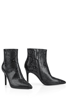 reptile-look-ankle-boots