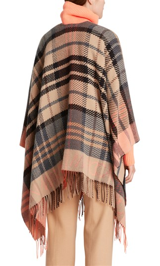 fleece-cape-with-checked-pattern