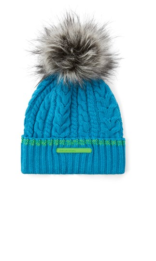 cable-knit-hat-with-faux-fur-pompom